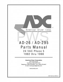Diagrams, Parts and Manuals for American Dryer AD-295 Dryer