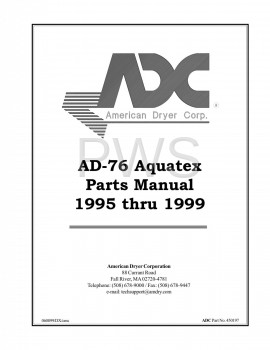 Diagrams, Parts and Manuals for American Dryer AD-76 Dryer