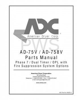 Diagrams, Parts and Manuals for American Dryer AD-758V Dryer