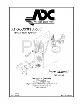 Diagrams, Parts and Manuals for American Dryer WDA-530 Dryer