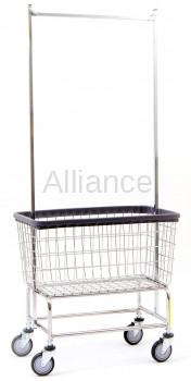 R&B Large Capacity Rolling Laundry Cart/Chrome Basket