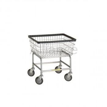 R&B Wire #100E Rolling Standard Laundry Cart/Chrome Basket