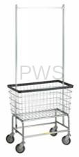 R&B Large Capacity Rolling Laundry Cart/Chrome Basket P/N