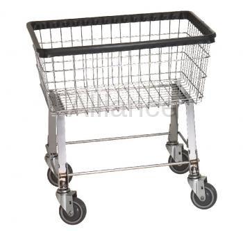 R&B Economy Laundry Cart/Chrome Basket P/N 96B Comml