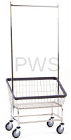 R&B Large Capacity Front Load Laundry Cart/Chrome Basket w