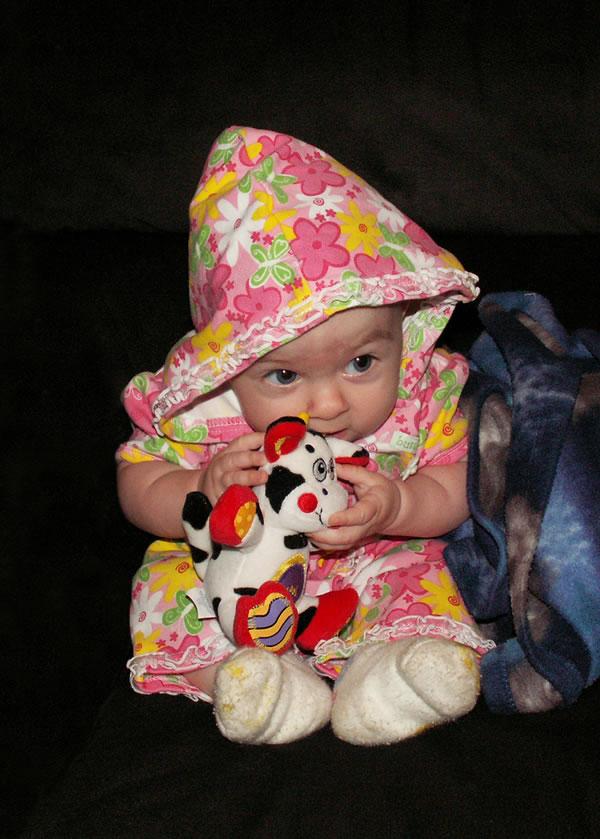 Baby Girl & Cow