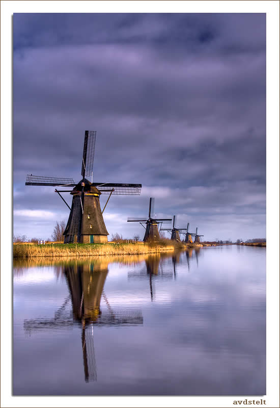 Windmills at Kinderdijk ( Holland )