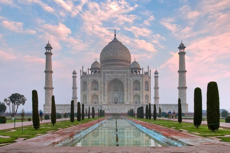 The Taj Mahal in Agra ( India )