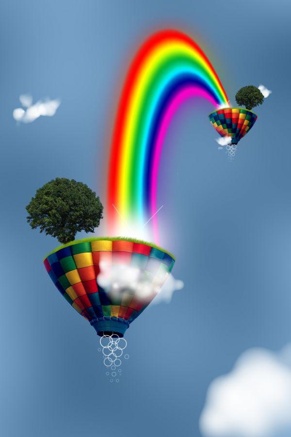 Create A Colorful Rainbow Fantasy Scene Photoshop Tutorial