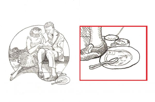 How to Draw A Night On the Town by Norman Rockwell