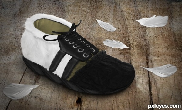 Create a Feathery Shoe from Scratch Final Image