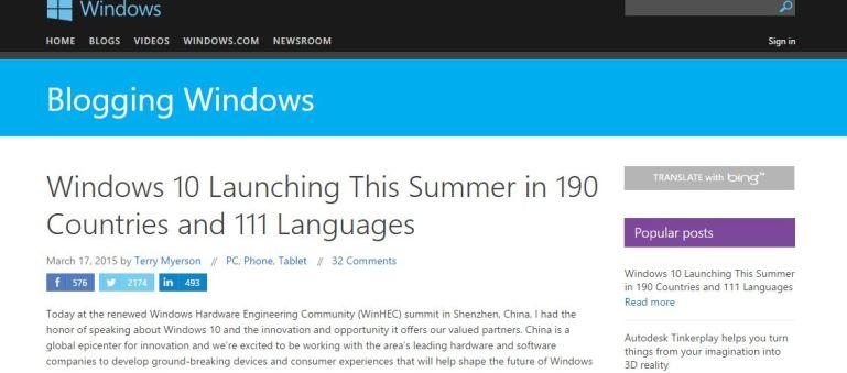 Windows 10 Launching