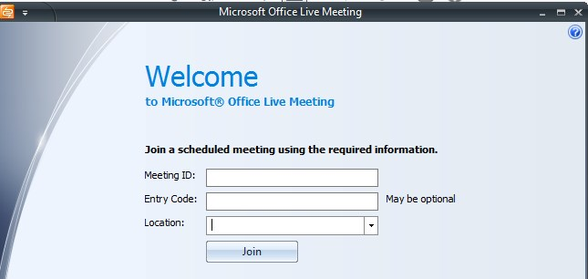 Microsoft Office Live Meeting for Webinar