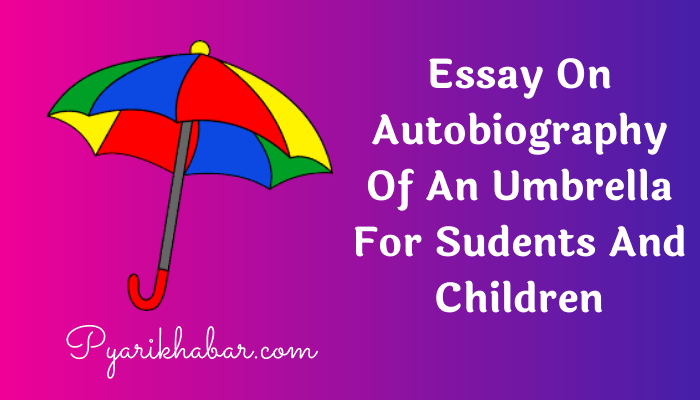 Essay On Autobiography Of An Umbrella
