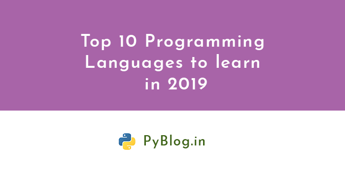 top 10 programming languages 2019