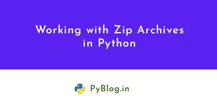 working with zip archive in python