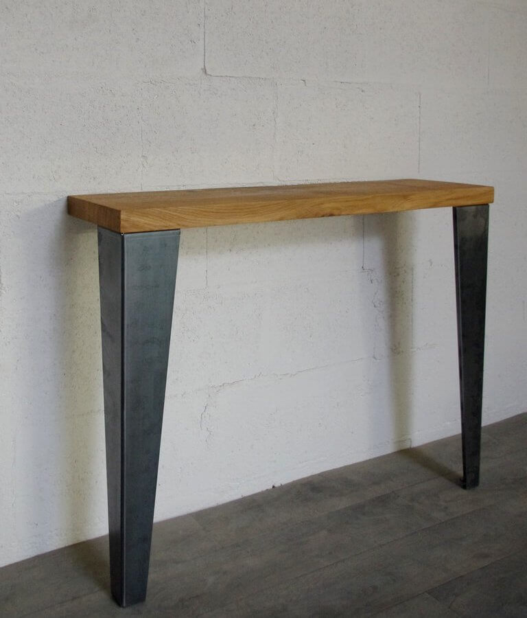 pieds de table de repas style industriel 72cm ref vest72