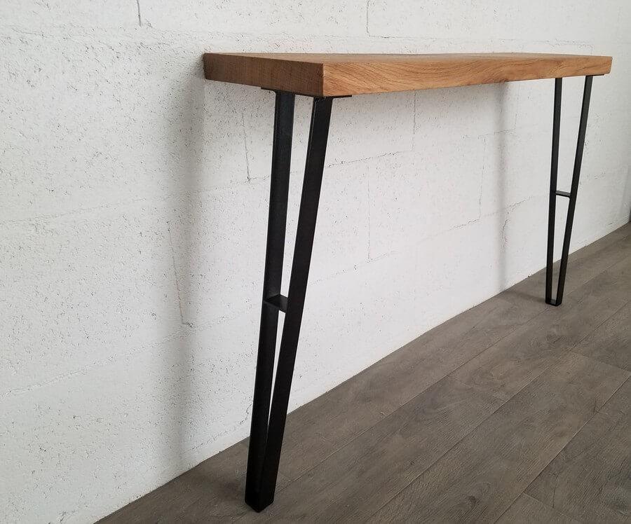 pied de table de repas en acier 71cm ref cti71