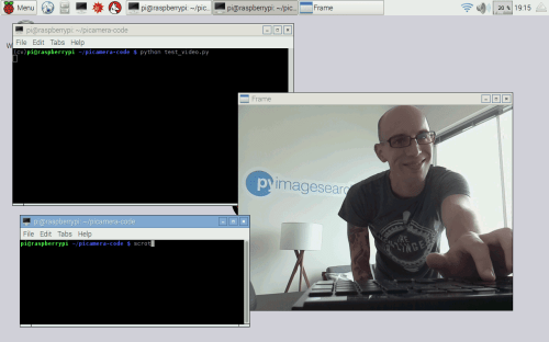 small resolution of figure 1 displaying the raspberry pi video stream to our screen
