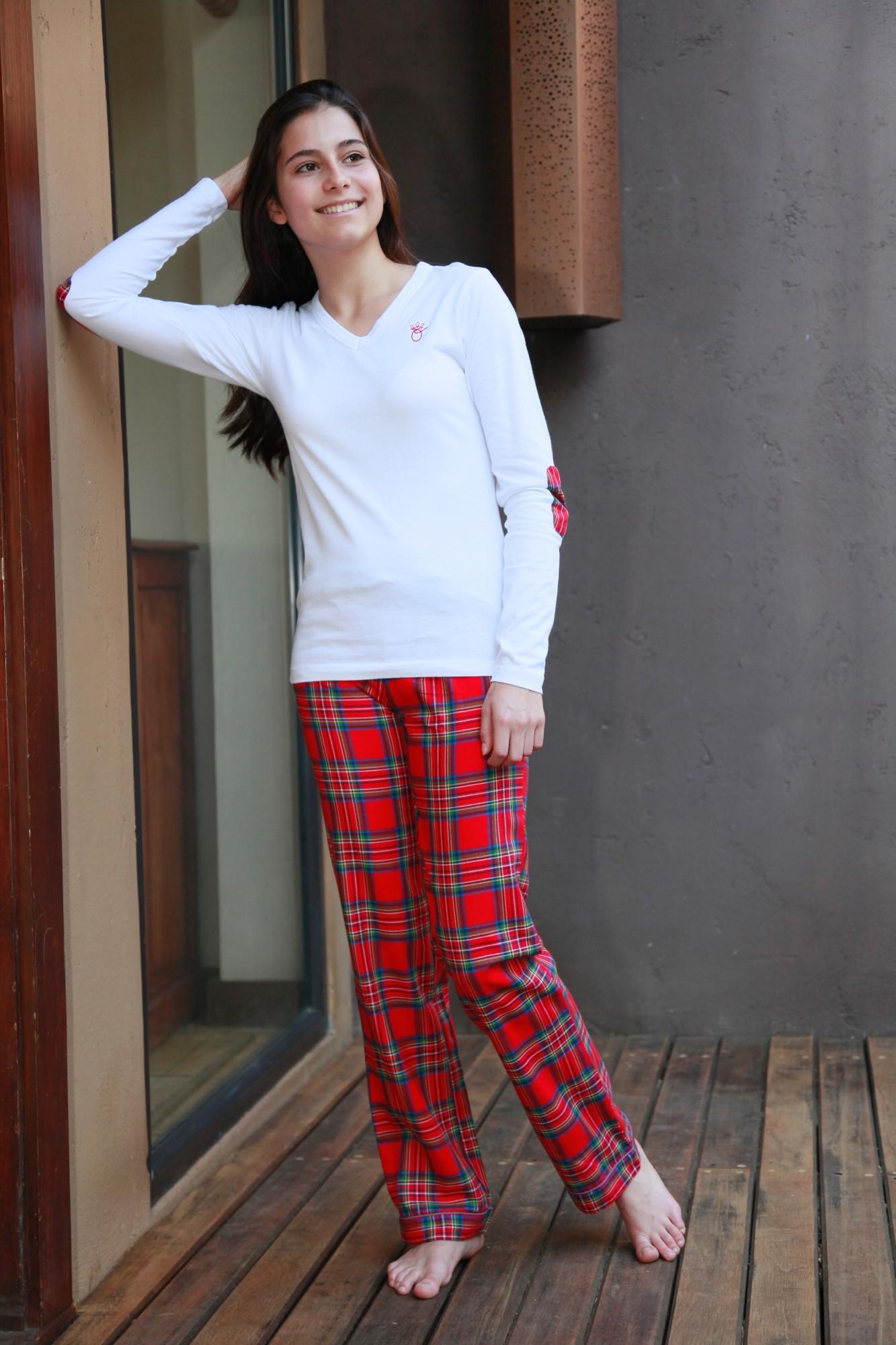 Pyjama Fille Victoire ecossais  Lorangerie