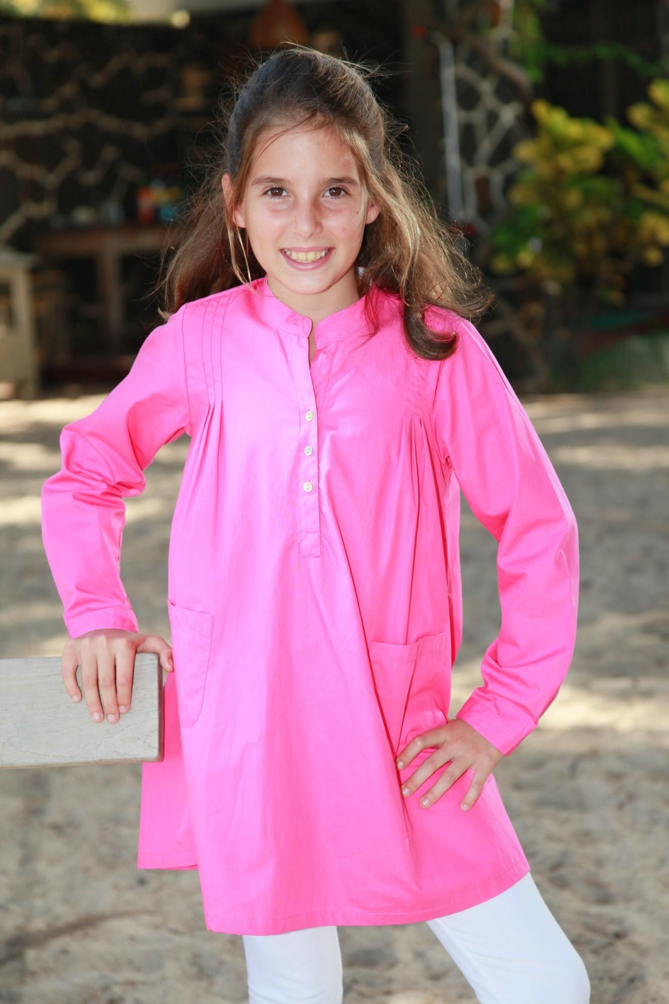 Pyjama Fille Tunique Fuchsia Sibylline  Lorangerie
