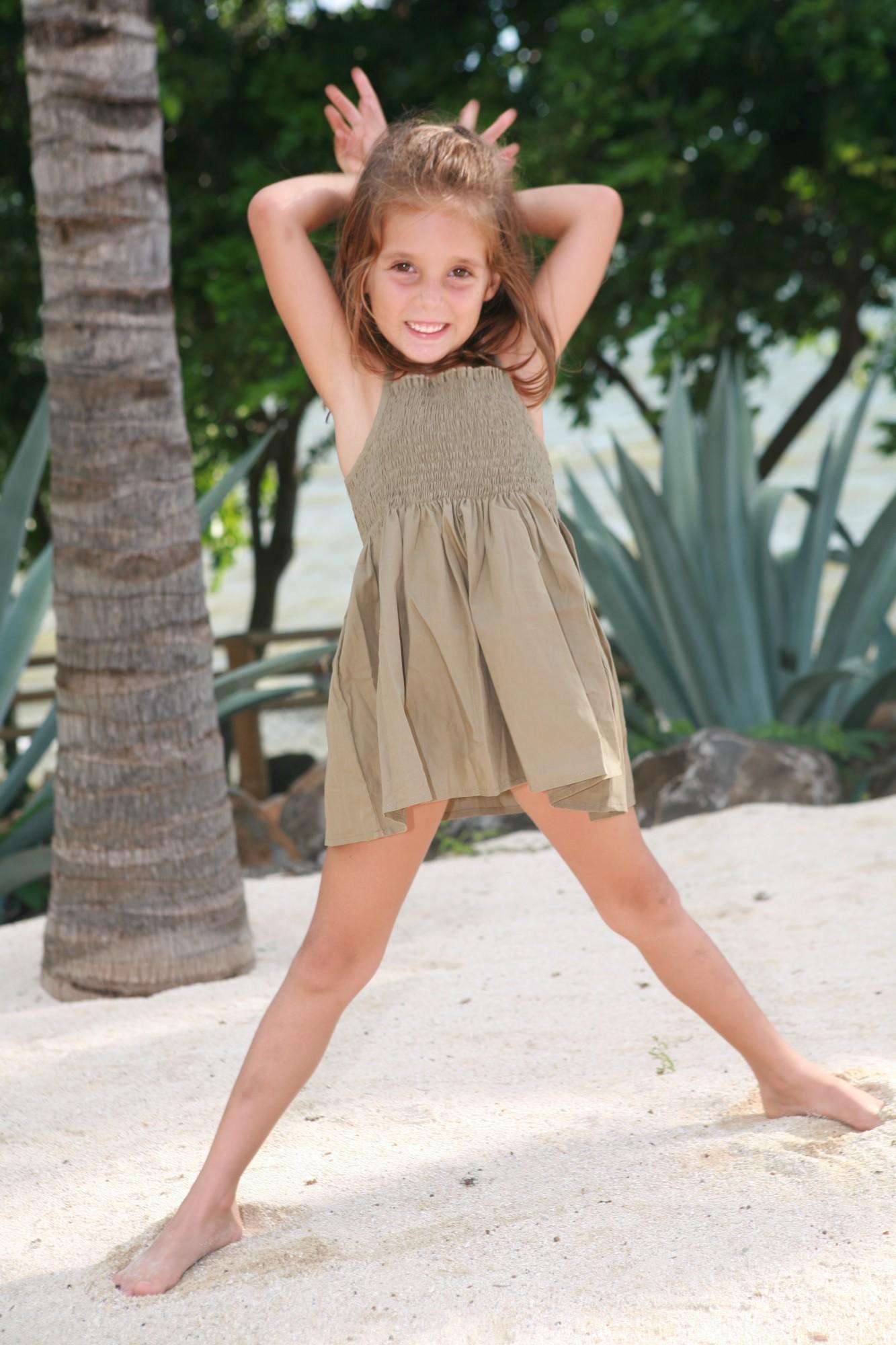 Maillot de bain Fille Soleil Vert Olive  Lorangerie