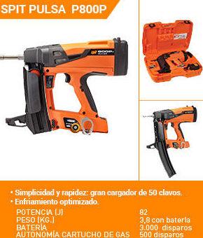 CLAVADORA DE GAS SPIT P 800