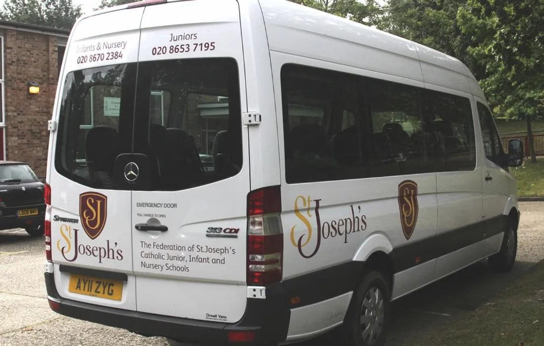 St Joseph's Federation branded minibus by Pylon Design