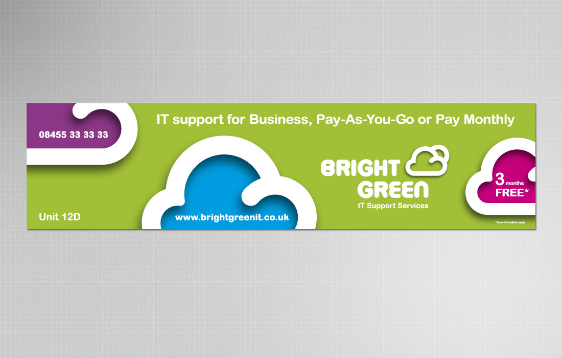 Bold and corporate banner for Bright Green by Pylon Design