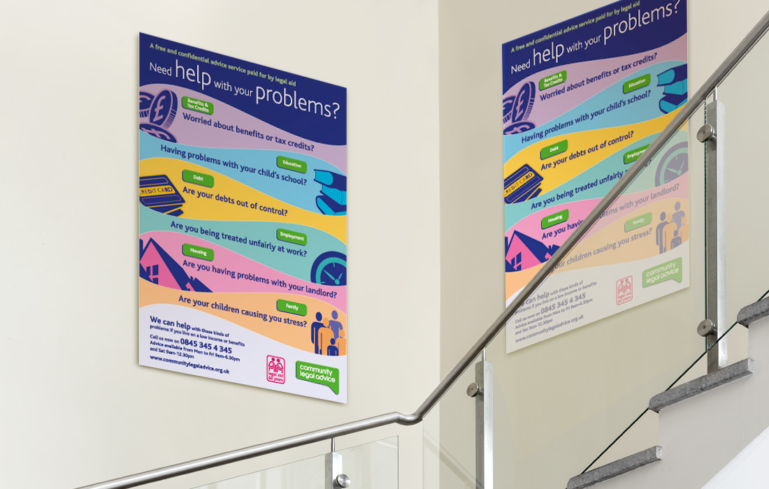 Colour coded posters for the CLS by Pylon Design