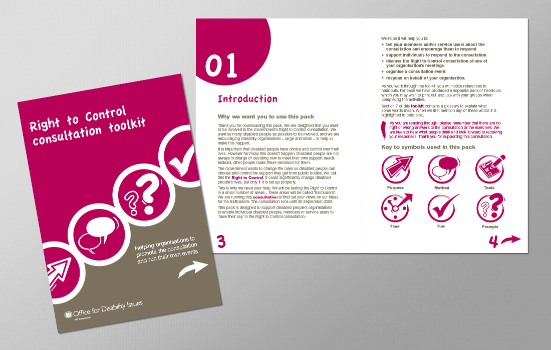 An ODI working toolkit brochure by Pylon Design