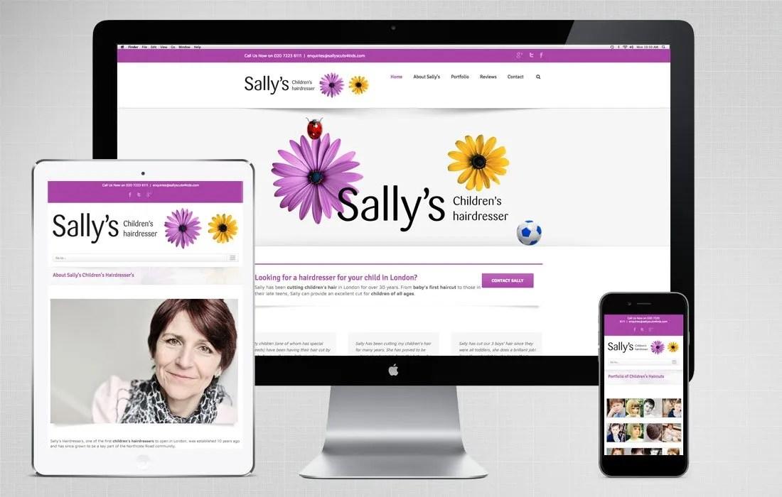 Sally's Children's Hairdresser Website