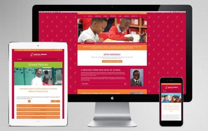 London school web design for Grinling Gibbons