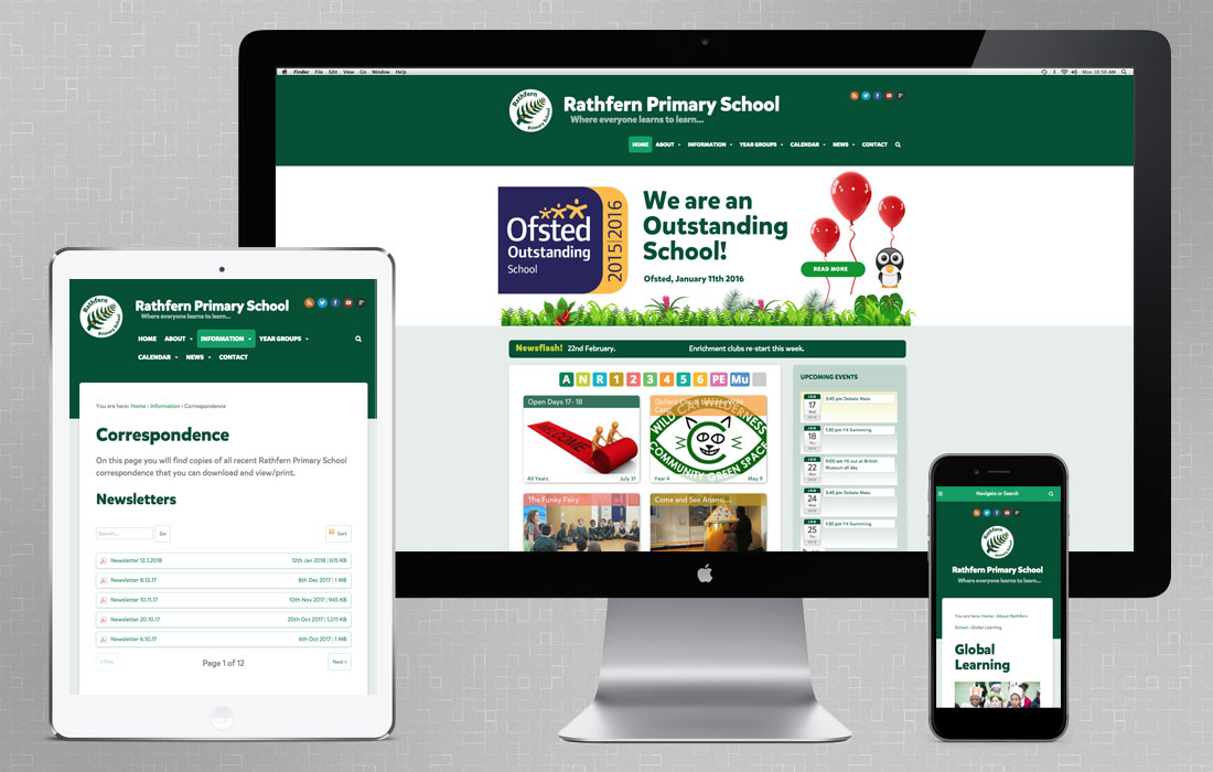 London school web design for Rathfern Primary School