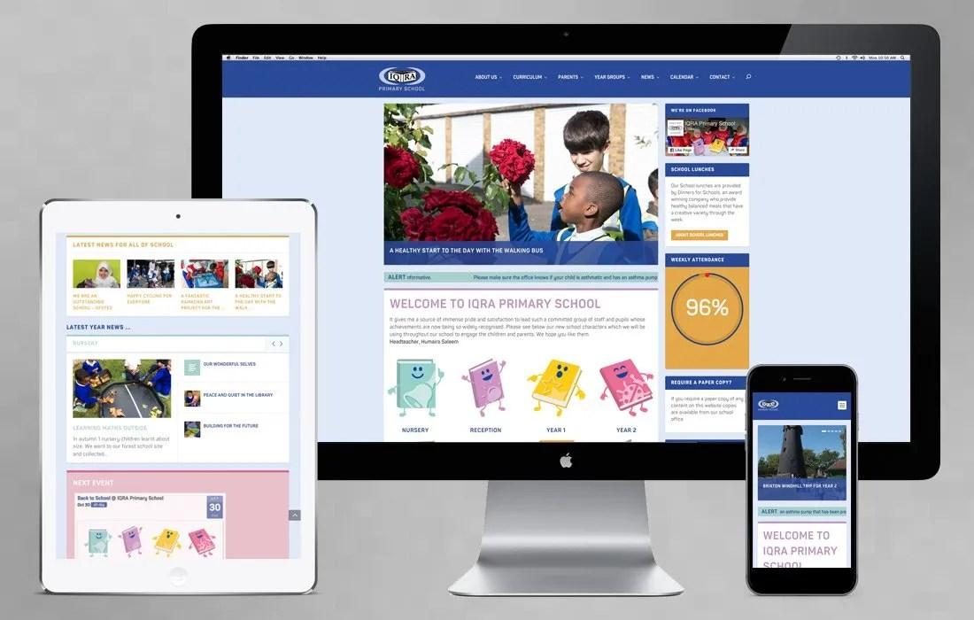 IQRA Primary School in London, website