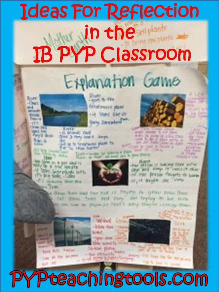 IB PYP REFLECTION IDEAS – PYP Teaching Tools