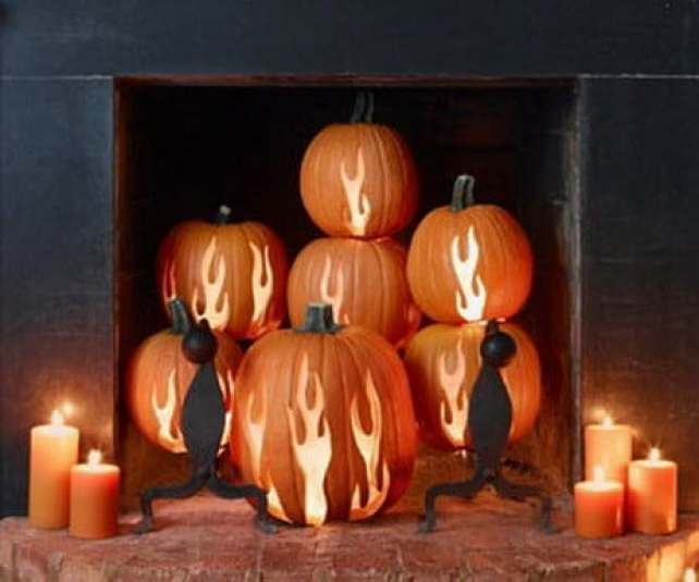 Pumpkin Fire Place