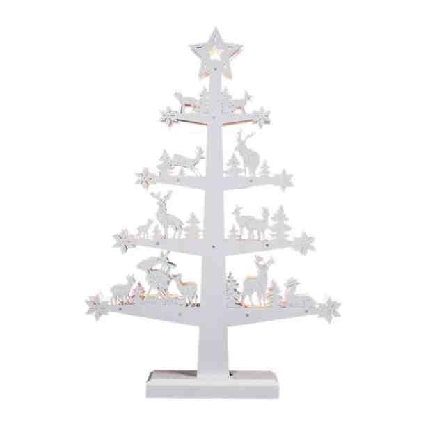 mini white christmas tree