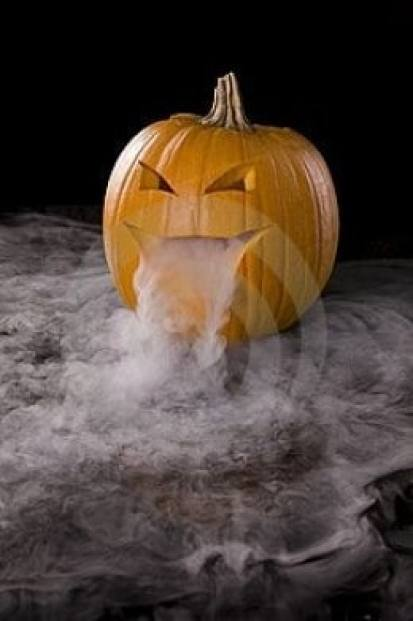 Your very own spooky fog pumpkin