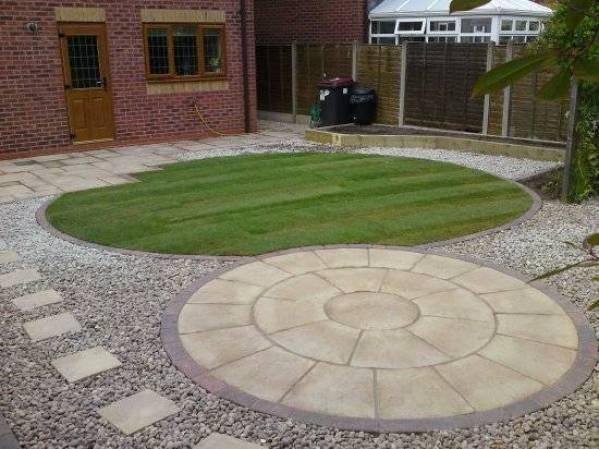 Gravel and patio design