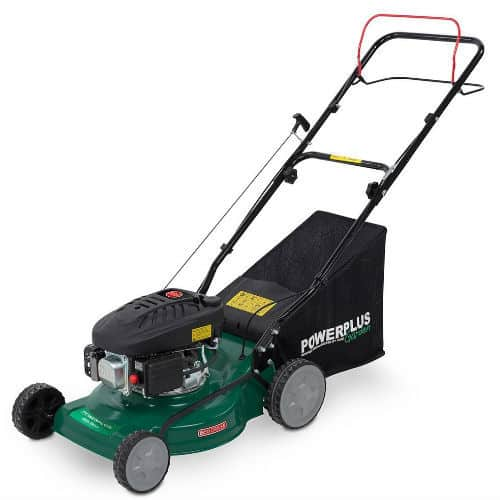 Powerplus 410mm petrol lawn mower review - best entry level model