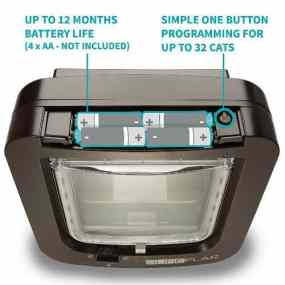 SureFlap Microchip Cat Flap Review - Brown model