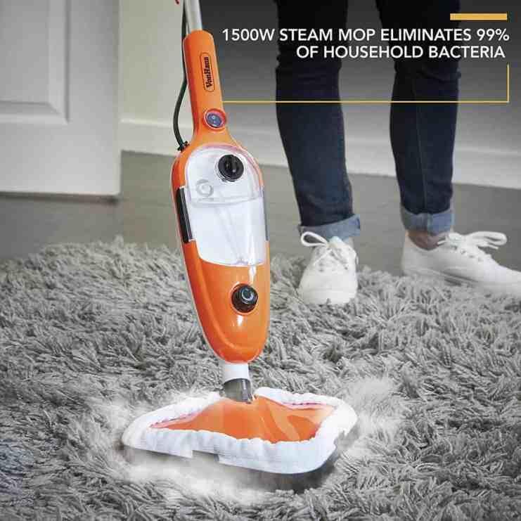 VonHaus Multifunctional Steam Cleaner Mop on carpet