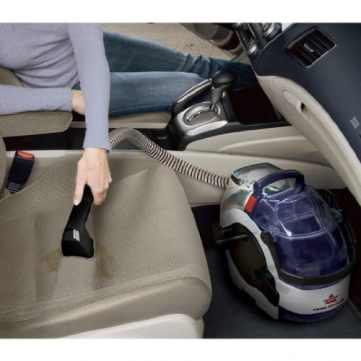 Bissell Lift Off Carpet Cleaner cleaning car seats