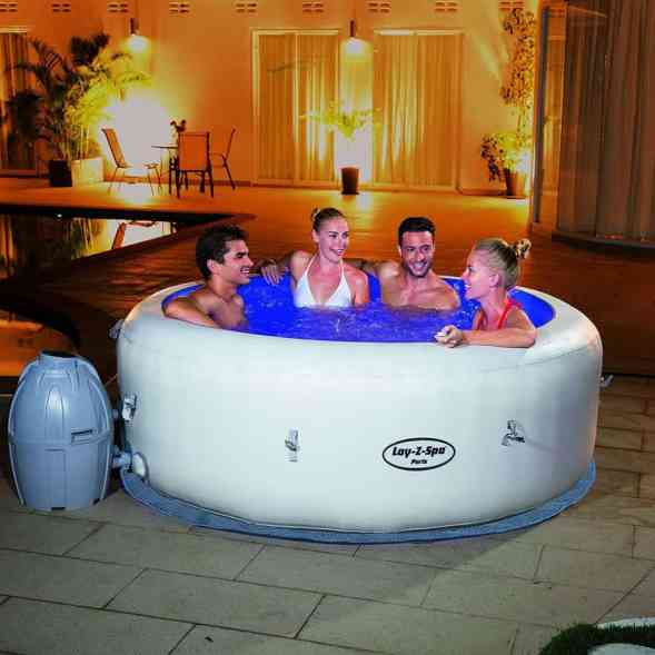 Lay-Z-Spa Paris inflatable hot tub review