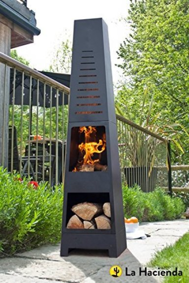 La Hacienda Skyline Black Steel Garden Chiminea REVIEW