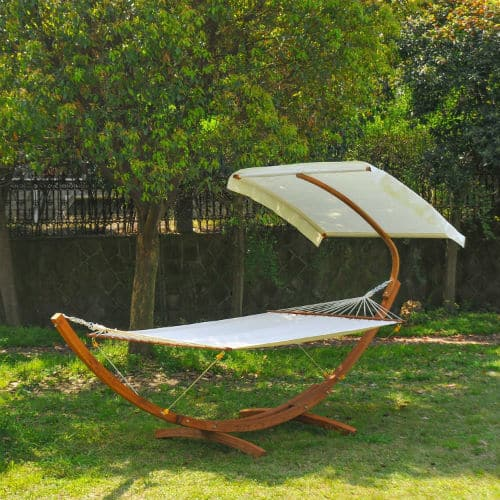 Outsunny 01-0859 Garden Patio Wooden Double Hammock Swing Review