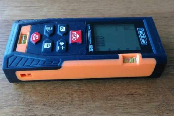 Tacklife laser distance measurer side view