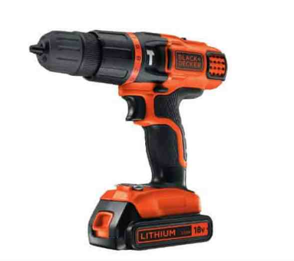 BLACK+DECKER 18 V Lithium Ion 2 Gear Hammer Drill