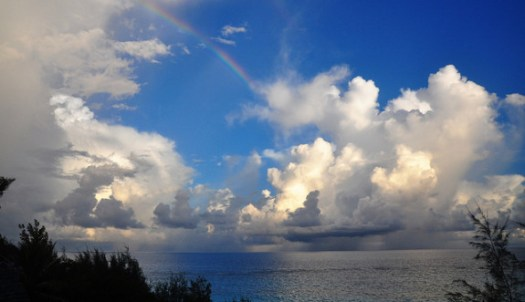 Rainbow, clouds parting - Pyragraph